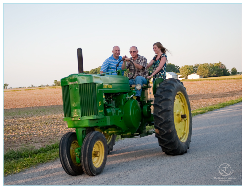 John Deere Tractor, indiana wedding photographer, indiana wedding photojournalist, indiana wedding photographer